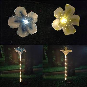 glasvezel bloemen decoratie licht