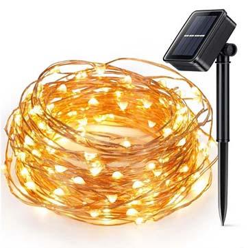 zonne-energie koperdraad lichtslinger