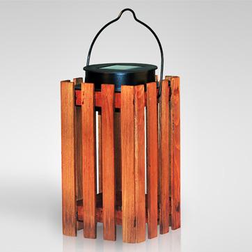solar houten lantaarn licht