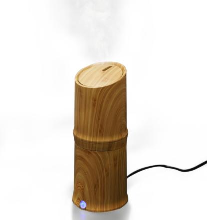 300ml Cool Mist Luchtbevochtiger Ultrasone Aroma Essentiële Olie Diffuser voor Office Home Slaapkamer Woonkamer Studie Yoga Spa - Houtnerf